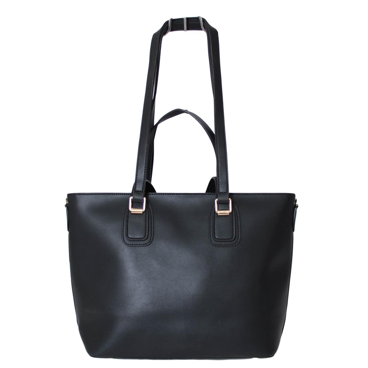 Сумка женская Flioraj, цвет: черный. 0005271900052719Закрывается на молнию. Внутри одно отделение. К сумке в наборе идет косметичка и длинный ремень.