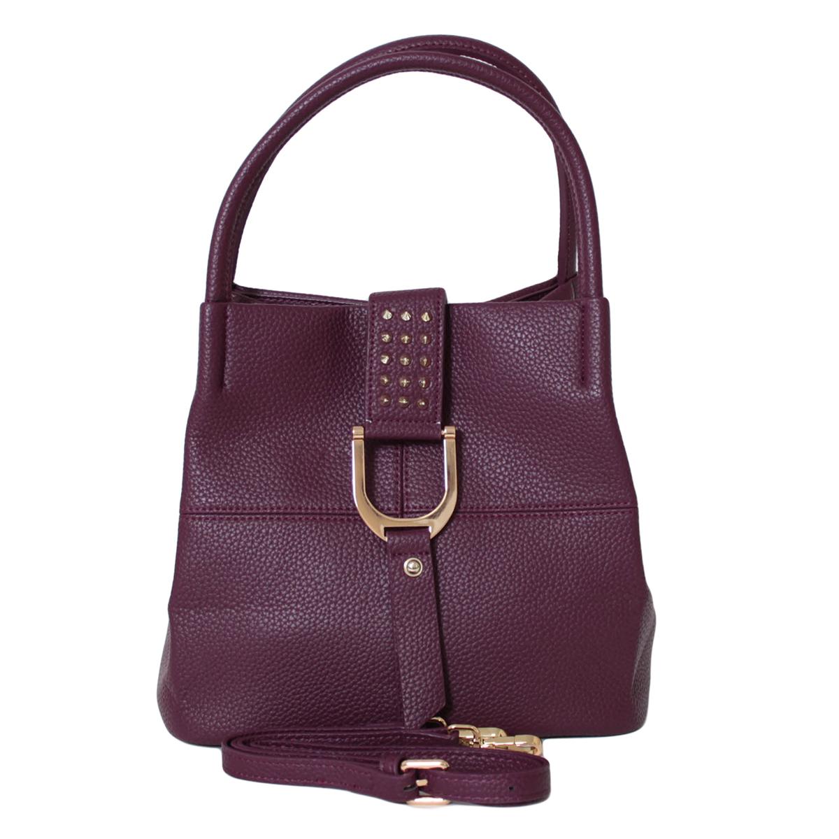 Сумка женская Flioraj, цвет: фиолетовый. 0005272100052721Закрывается на клапан. Внутри одно отделение, один карман на молнии и два открытых кармана. Есть длинный ремень.