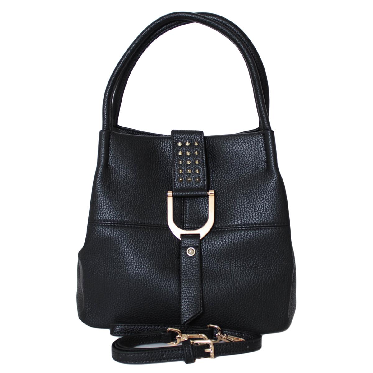 Сумка женская Flioraj, цвет: черный. 0005272200052722Закрывается на клапан. Внутри одно отделение, один карман на молнии и два открытых кармана. Есть длинный ремень.