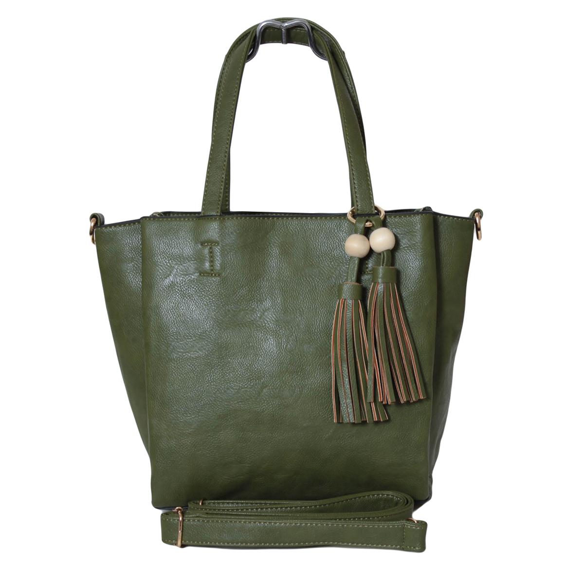 Сумка женская Flioraj, цвет: зеленый. 0005290800052908Закрывается на молнию. Внутри одно отделение, один карман на молнии и один открытый. На передней и задней стенки карманы на декоративных клапанах. В комплекте есть длинный ремень.