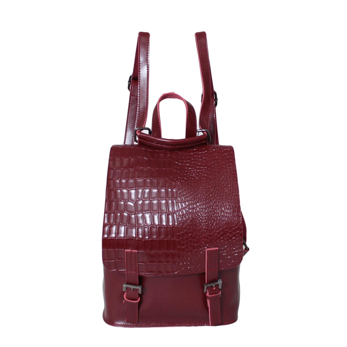 Рюкзак женский Flioraj, цвет: красный. 0005291100052911Рюкзак закрывается на декоративный клапан внутри одно отделение.