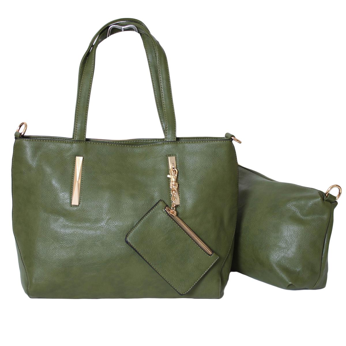 Сумка женская Flioraj, цвет: зеленый. 0005291700052917Закрывается на молнию. Внутри одно отделение, один карман на молнии и два открытых. В комплекте косметичка, кошелек для мелочи и длинный ремень.
