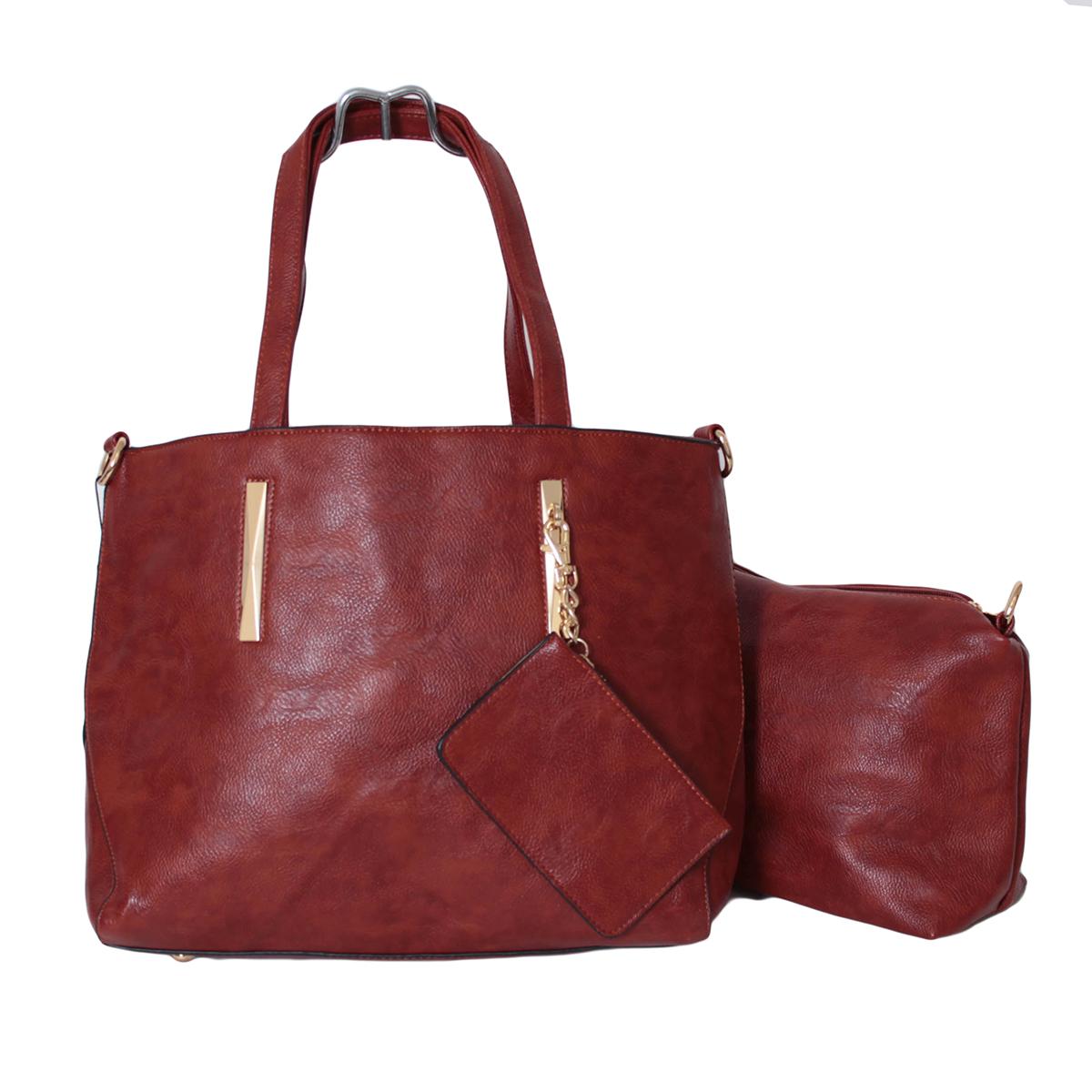 Сумка женская Flioraj, цвет: коричневый. 0005292700052927Закрывается на молнию. Внутри одно отделение, один карман на молнии и два открытых. В комплекте косметичка, кошелек для мелочи и длинный ремень.