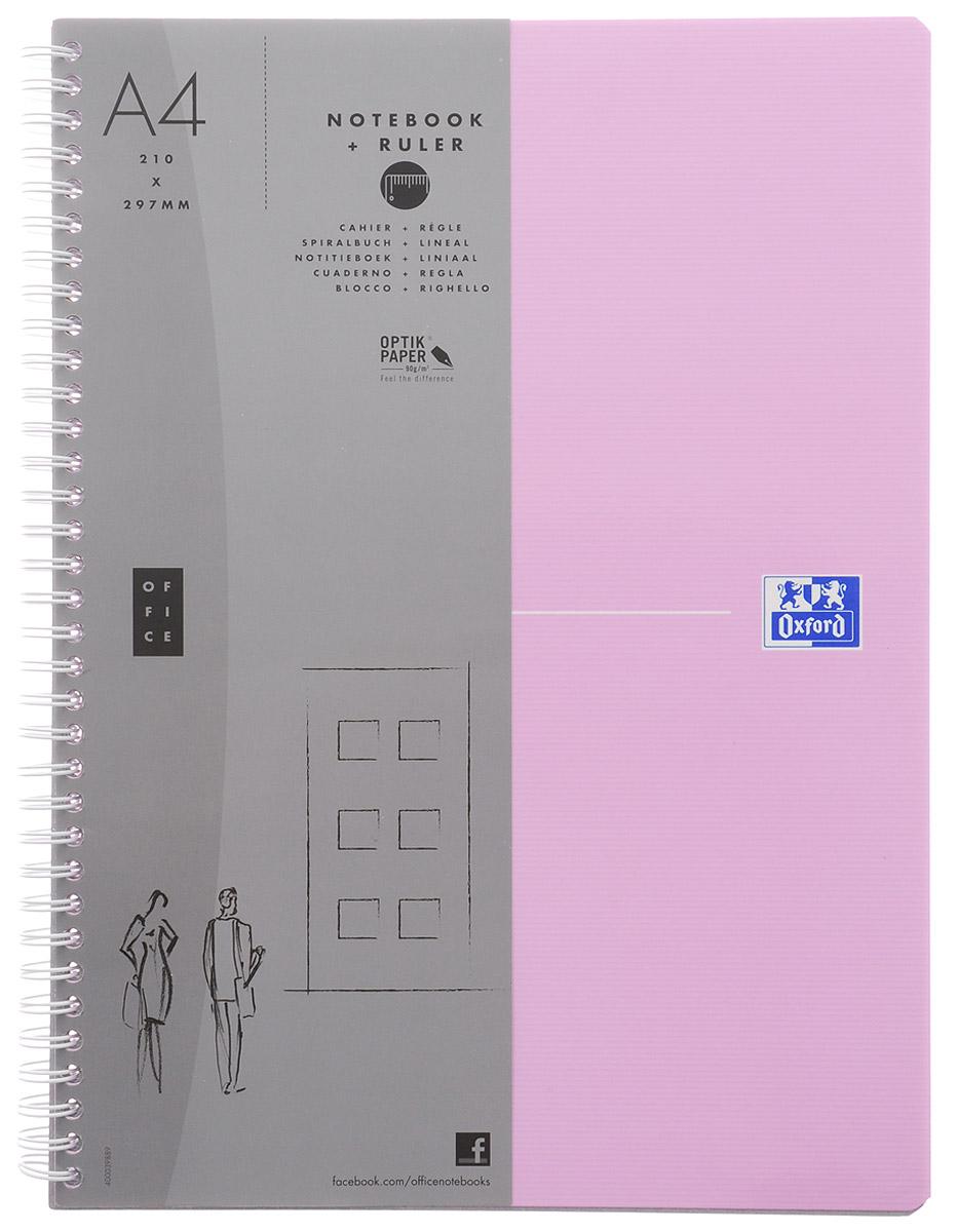 Oxford Тетрадь Beauty 90 листов в клетку цвет светло-розовый100105043/822571_светло-розовыйКрасивая и практичная тетрадь Oxford Beauty отлично подойдет для школьников, студентов и офисных служащих. Обложка тетради выполнена из плотного, но гибкого ламинированного картона с закругленными краями. Тетрадь формата А4 состоит из 90 белых листов на двойном гребне с линовкой в клетку без полей. Практичное и надежное крепление на гребне позволяет отрывать листы и полностью открывать тетрадь на столе. Тетрадь дополнена съемной закладкой-линейкой из гибкого пластика. Вне зависимости от профессии и рода деятельности у человека часто возникает потребность сделать какие-либо заметки. Именно поэтому всегда удобно иметь эту тетрадь под рукой, особенно если вы творческая личность и постоянно генерируете новые идеи.