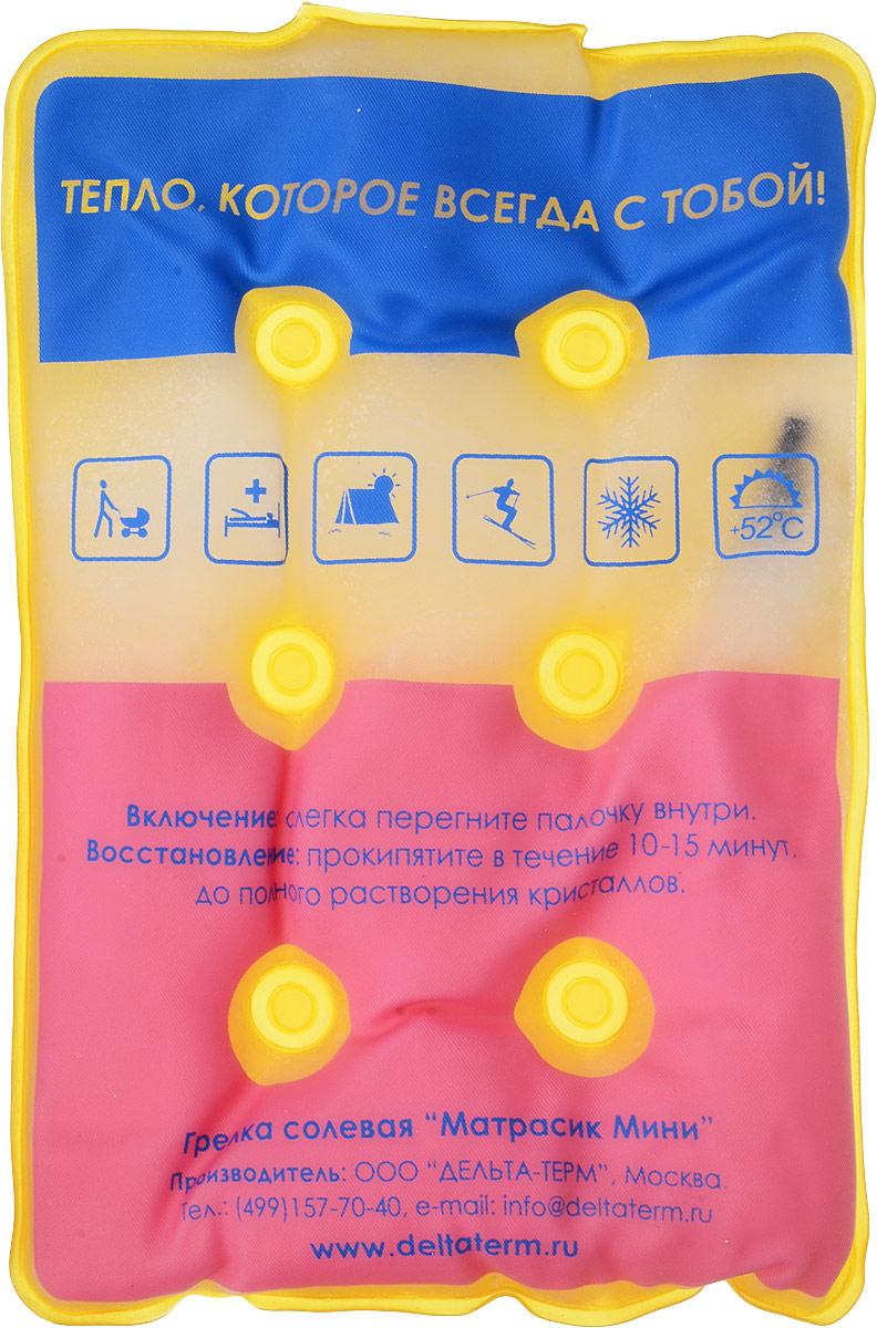 Грелка солевая Дельтатерм Матрасик мини, цвет: желтый, синий, белый00-00000212_желтый, синий, белый