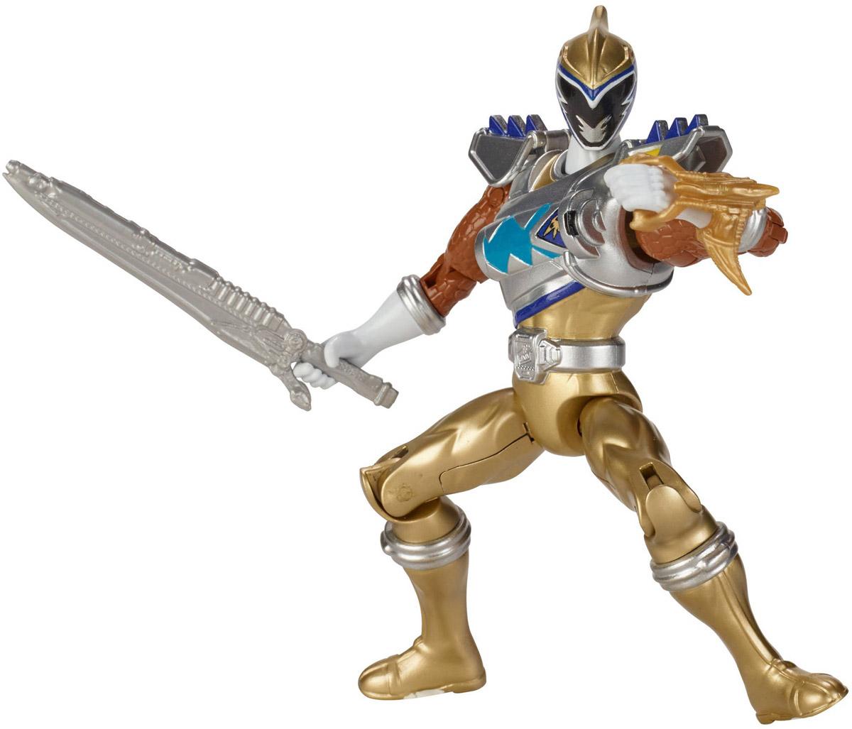 Power Rangers Фигурка Dino Drive Gold Ranger43200_43233Фигурка Power Rangers Dino Drive Gold Ranger станет прекрасным подарком для вашего ребенка. Она выполнена из прочного пластика ярких цветов в виде непревзойденного рейнджера с оружием (в комплекте). Руки, ноги и голова фигурки подвижны. Могучие рейнджеры - американский телесериал в жанре токусацу, созданный компанией Saban в 1993 году на основе японского сериала Super Sentai Show. С 2003 года производился компанией Disney. Ваш ребенок будет часами играть с этой фигуркой, придумывая различные истории с участием любимого героя.