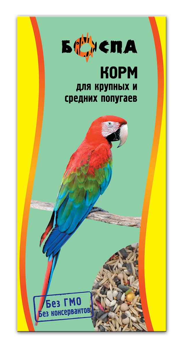 Корм для крупных и средних попугаев Боспа, 500 гЕ137Полнорационный корм для домашних животных