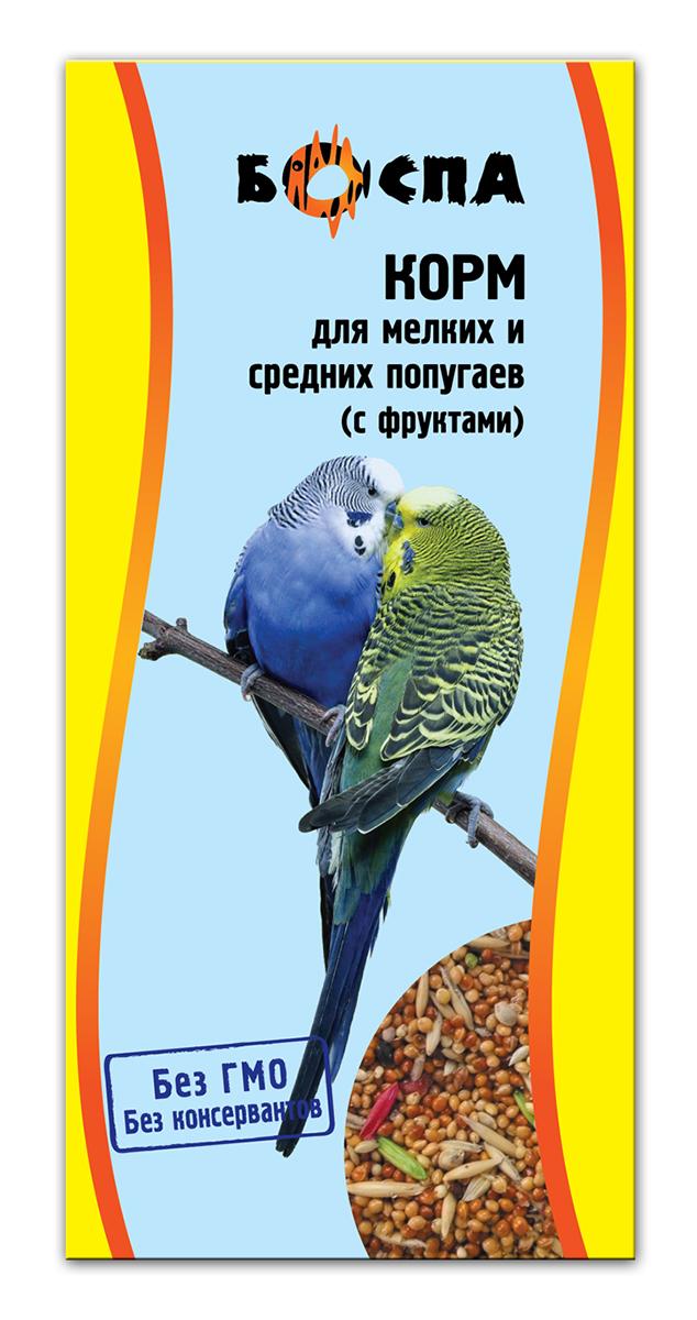 Корм для мелких и средних попугаев с фруктами Боспа, 500 гЕ138Полнорационный корм для домашних животных