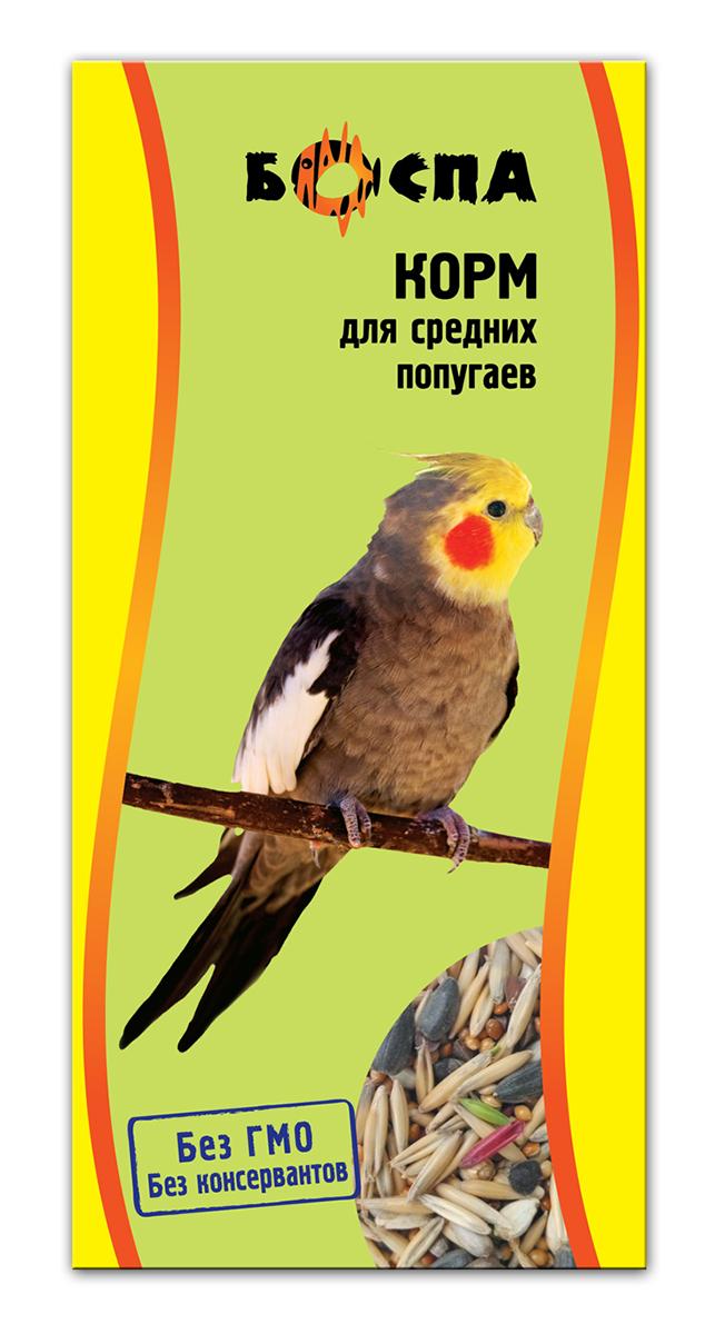 Корм для средних попугаев Боспа, 500 гЕ139Полнорационный корм для домашних животных