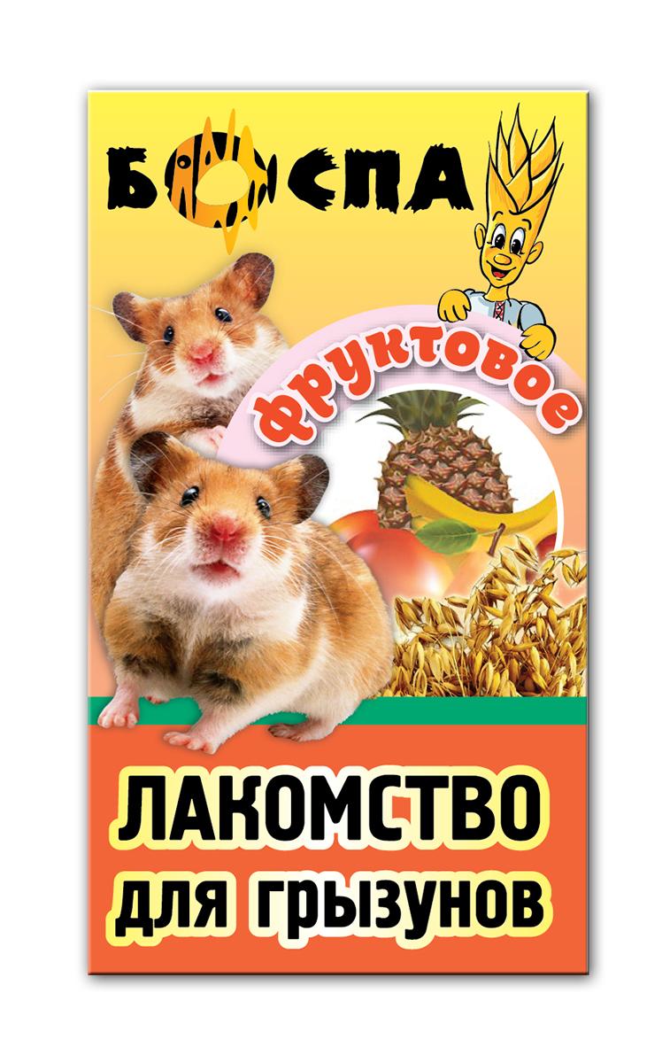 Лакомство для грызунов с фруктами 3 в 1 Боспа Груша, 100 гЕ382Лакомство для домашних животных, дополнение к полнорационному корму