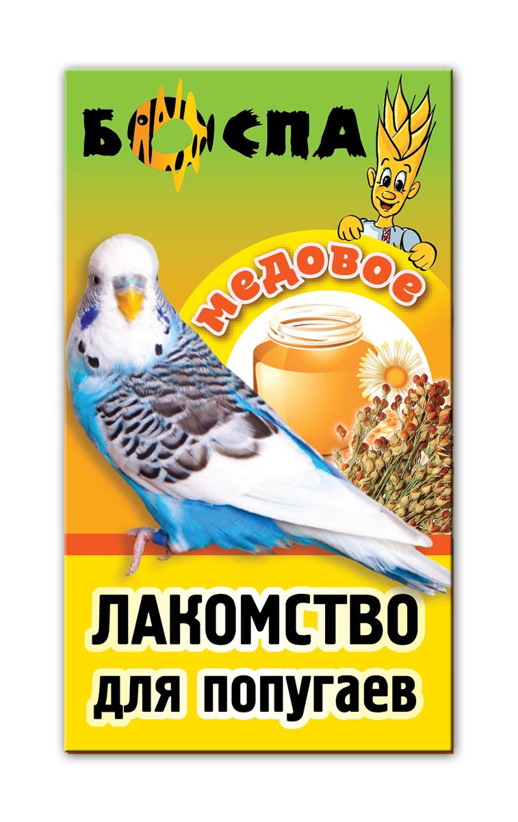 Лакомство для попугаев с медом 3 в 1 Боспа Груша, 100 гЕ383Лакомство для домашних животных, дополнение к полнорационному корму