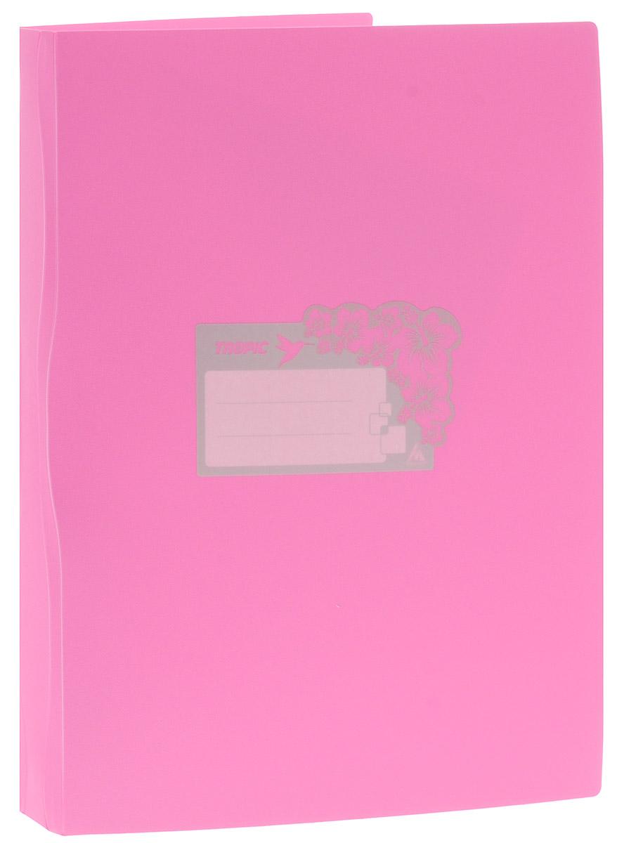 Бюрократ Папка Tropic с файлами 20 листов формат А4 цвет светло-розовый