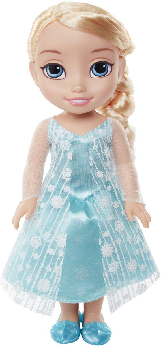 Disney Frozen Кукла Принцесса-малышка Эльза989190_ElsaКукла Disney Frozen Малышка Эльза непременно понравится вашей дочурке. Кукла с необыкновенно большими и выразительными глазками выполнена из безопасного материала. Одета малышка Эльза в голубое платье, усыпанное блестками и снежинками. На ножках принцессы - голубые туфельки. У куклы шикарные белые локоны, заплетенные в косичку. Такая куколка очарует вас и вашу дочурку с первого взгляда! Ваша малышка с удовольствием будет играть с Эльзой, проигрывая сюжеты из мультфильма или придумывая различные истории. Порадуйте свою дочурку таким замечательным подарком!