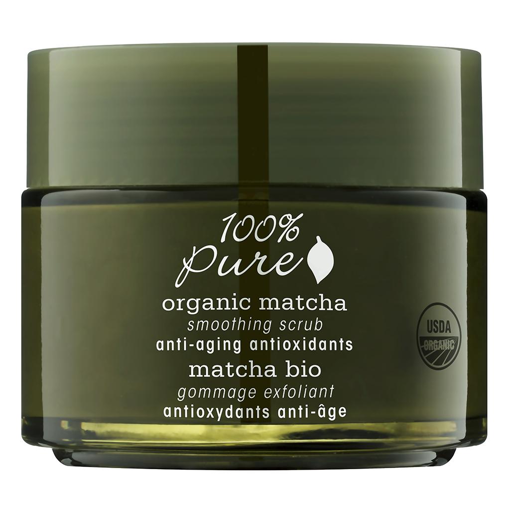 100% Pure Коллекция Зелёный Чай Matcha: органический выравнивающий скраб для лица. 118 мл