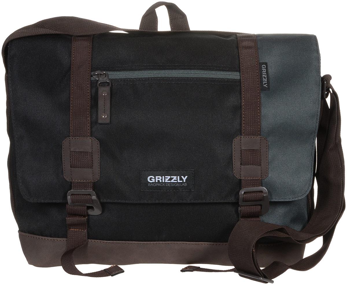 Сумка молодежная Grizzly, цвет: черный, серый, коричневый, 14 л. ММ-619-3/4ММ-619-3/4Молодежная сумка Grizzly изготовлена из высококачественного плотного текстиля. Дно уплотнено материалом из экокожи. Сумка имеет одно отделение, которое закрывается на клапан с застежками-крючками, регулируемыми по высоте, и застежку-молнию. Внутри сумки расположен карман для ноутбука или планшета, а также вшитый карман на застежке-молнии. Снаружи, с фронтальной стороны сумки есть один прорезной карман на застежке-молнии и два открытых кармашка. На клапане также располагается прорезной карман на застежке-молнии, и с тыльной стороны - боковой карман на застежке-молнии. Изделие оснащено дополнительной ручкой-петлей и регулируемым плечевым ремнем. Самовыражение - одна из базовых потребностей современного человека. Оригинальные, яркие, остромодные рюкзаки от Grizzly наилучшим образом подчеркнут вашу креативность, индивидуальность и неповторимый стиль!