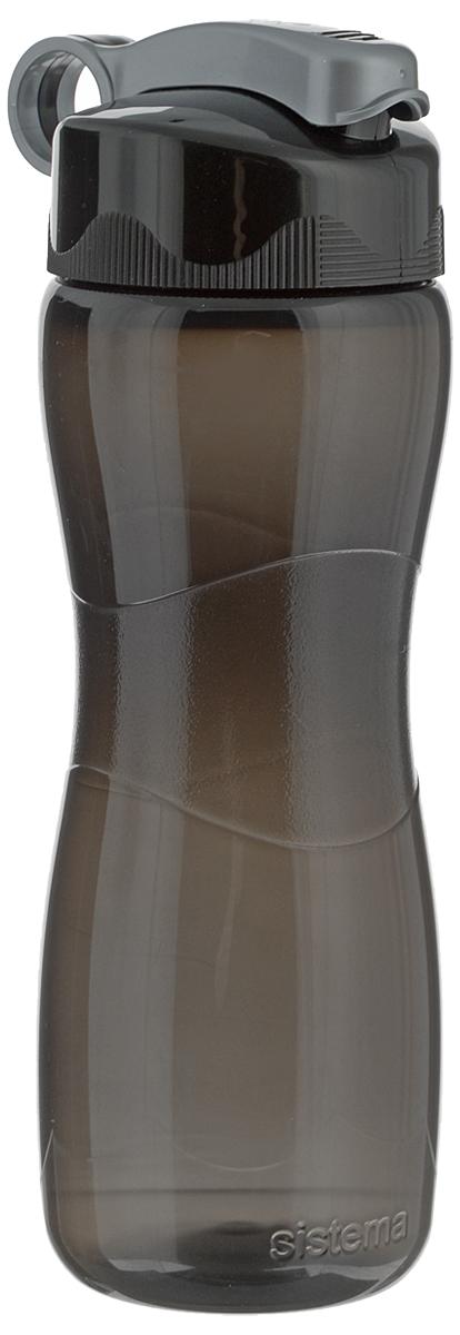 Бутылка для воды Sistema Hourglass, цвет: черный, 645 мл590_черныйБутылка для воды Sistema Hourglass изготовлена из прочного пищевого пластика без содержания фенола и других вредных примесей. Бутылка оснащена специальной крышкой, которая предотвращает проливание жидкости и позволяет удобно пить напитки. С такой бутылкой вы сможете где угодно насладиться вашими любимыми напитками. Специальное кольцо позволяет присоединить ее на рюкзак. Высота бутылки: 22,5 см.