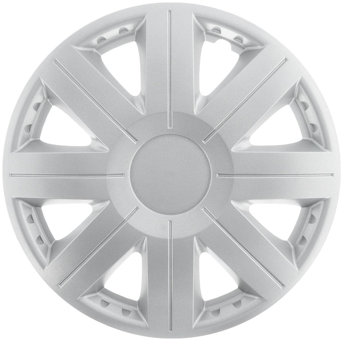 Колпак защитный Phantom Космос, R14 , декоративный, 1 шт. PH5758PH5758Колпак Phantom Космос предназначен для защиты колесного диска и тормозной системы от загрязнений, а также для декоративного украшения автомобиля. Колпак изготовлен из высококачественного масло- бензостойкого пластика, а крепление в виде распорного кольца - из металла. Размер колеса: R14. Диаметр колпака: 39,5 см.
