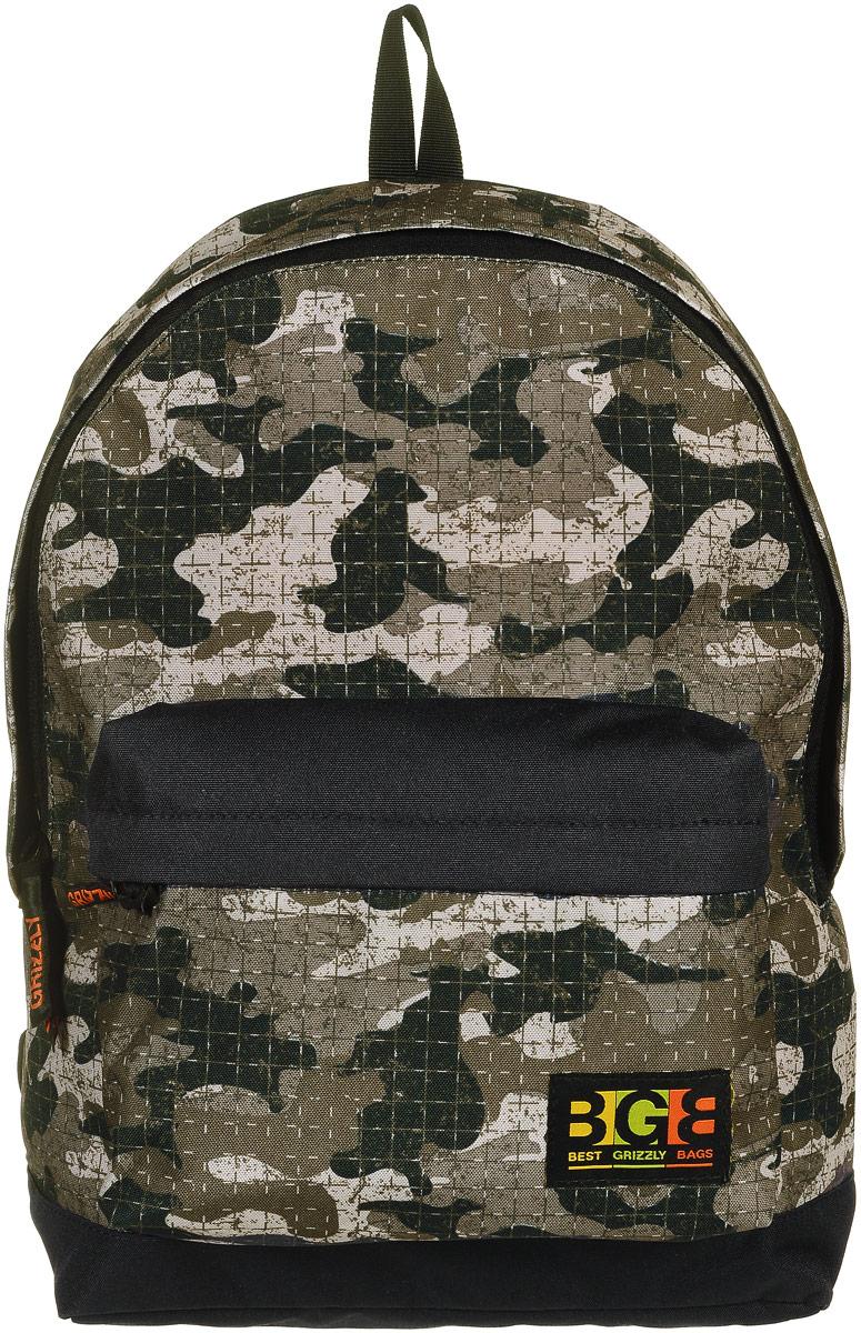 Рюкзак молодежный Grizzly, цвет: камуфляж, 18 л. RU-704-4/4RU-704-4/4Молодежный рюкзак выполнен из высококачественного полиэстера с клетчатым принтом камуфляж. В рюкзаке расположено одно основное отделение, которое закрывается на круговую застежку-молнию с двумя бегунками. Внутри рюкзака есть мягкий карман для планшета с дополнительным вшитым карманом на застежке-молнии. Снаружи, с фронтальной стороны расположен объемный карман на застежке-молнии. Рюкзак оснащен укрепленной спинкой, дополнительной ручкой-петлей, широкими лямками, которые регулируются по длине. Самовыражение - одна из базовых потребностей современного человека. Оригинальные, яркие, остромодные рюкзаки от Grizzly наилучшим образом подчеркнут вашу креативность, индивидуальность и неповторимый стиль!