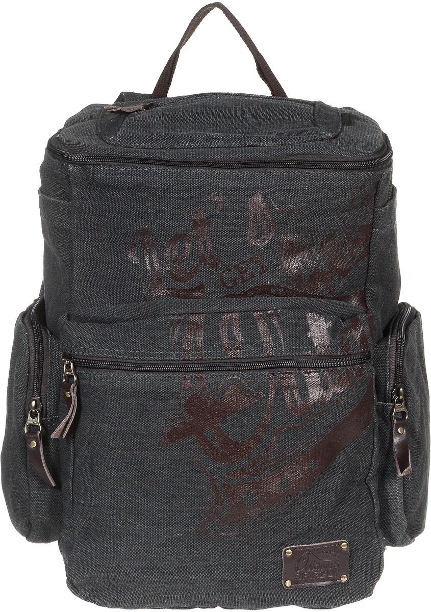 Рюкзак молодежный Grizzly, цвет: серый, 30 л. RU-702-1/2RU-702-1/2Молодежный рюкзак Grizzly изготовлен из высококачественного брезента. Рюкзак имеет одно основное отделение, закрывающееся клапаном на круговую застежку-молнию с двумя бегунками. Внутри расположен укрепленный карман для ноутбука на липучке, составной пенал-органайзер, который включает в себя: три открытых кармашка для канцелярских принадлежностей и сетчатый карман на застежке-молнии, Снаружи, с фронтальной стороны рюкзака есть объемный карман на застежке-молнии. По бокам рюкзака располагаются два объемных кармана на застежках-молниях и два накладных кармана на липучках. Также на клапане рюкзака имеется дополнительный карман на застежке-молнии и карман на спинке с застежкой-молнией. Изделие оснащено укрепленной спинкой, укрепленными лямками, регулируемыми по длине и дополнительной ручкой-петлей. Самовыражение - одна из базовых потребностей современного человека. Оригинальные, яркие, остромодные рюкзаки от Grizzly наилучшим образом подчеркнут вашу креативность, индивидуальность...