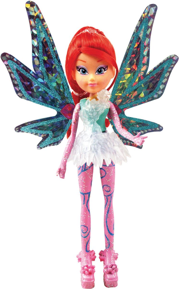 Winx Club Кукла Тайникс Bloom IW01351500IW01351500_BloomКукла Winx Club Тайникс Bloom по-настоящему обрадует юных любительниц популярного мультсериала. Удивительный наряд и чудесная обувь, подвижные руки и ноги, шикарные волосы, съемные крылышки куклы - все это понравится всем поклонницам фей. Блум родилась зимой под знаком Зодиака Дракон. Ее любимый цвет - красный. Уверенная в себе Блум обожает читать книги о магии в поисках информации для совершенствования мастерства. Фея обожает смотреть романтические комедии и общаться со своей любимой подругой Стеллой. Получив силу Сиреникса, Блум обрела необыкновенное могущество в подводном мире! Вместе с куклой Блум в комплект входят съёмные крылышки, которые светятся и порхают с помощью простого механического рычажка совсем как у любимой героини, пластиковый элемент для платья и подставка.
