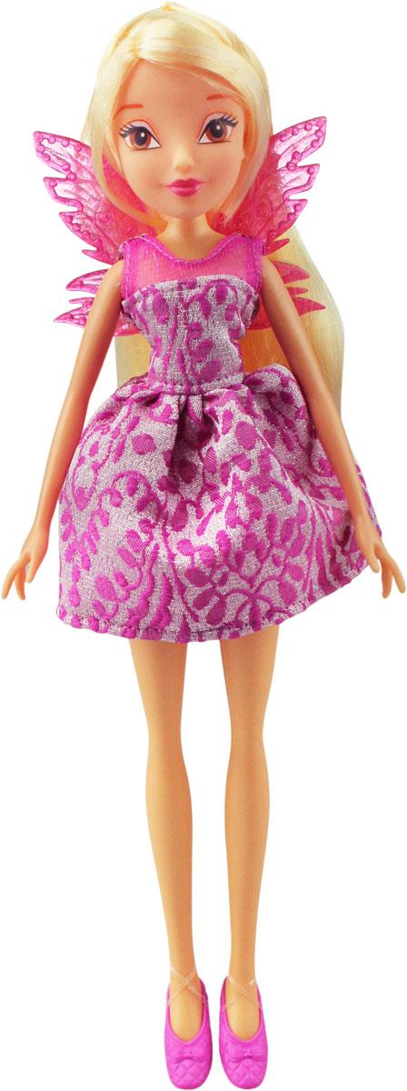 Winx Club Кукла Мисс Винкс StellaIW01201500_StellaКукла Winx Club Мисс Винкс. Stella представляет собой стройную и изящную героиню из мультфильма Winx Club. Кукла выглядит точно также, как и ее нарисованная версия из мультсериала. У маленькой волшебницы очаровательные глазки, яркое модное платье, на ножках - туфельки, а за спиной пара крылышек, которые легко снимаются. Также у феи подвижные ручки и ножки, что поможет еще больше разнообразить игру. Игрушка может порадовать девочек, которые любят мультфильм про очаровательных фей, а также она сможет помочь своей юной обладательнице воссоздать действия из мультфильма.