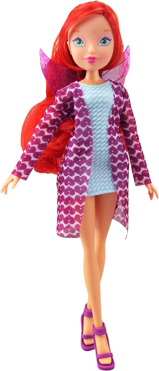 Winx Club Кукла Красотка BloomIW01211500_BloomКуклы Винкс в стильных нарядах + 2 кольца на руку ребенка с принтом Винкс в наборе! Руки/ноги не сгибаются. В наборе: кукла в одежде и обуви, съемные пластиковые крылышки, 2 кольца на руку ребенка с принтами в стиле Винкс. Компактная упаковка.