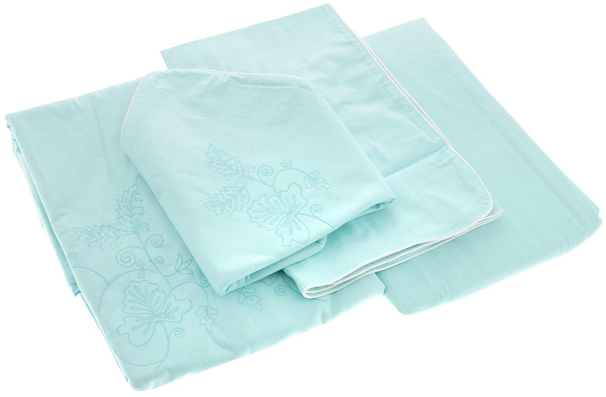 Комплект белья Гаврилов-Ямский Лен, 2-спальный, наволочки 70х70, цвет: бирюзовый6679Комплект постельного белья Гаврилов-Ямский Лен, выполненный из 100% хлопка и оформленный изящной вышивкой, состоит из пододеяльника, простыни и двух наволочек. Хлопковая ткань является одной из гиппоаллергенных и прочных тканей, хорошо пропускает воздух, впитывает пары влаги, она мягкая, отлично стирается и гладится и плюс ко всему не такая дорогая, как натуральный шелк. Приобретая комплект постельного белья Гаврилов-Ямский Лен, вы можете быть уверены в том, что покупка доставит вам и вашим близким удовольствие и подарит максимальный комфорт.