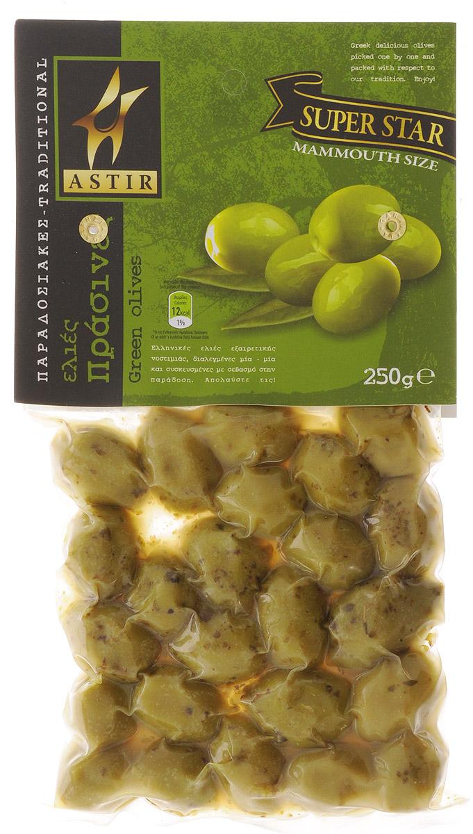 Astir Оливки зеленые с косточкой, 250 г