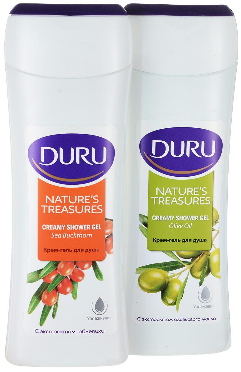 Duru Nature's Treasures Подарочный набор Гель для душа Олива 250мл + Гель для душа Облепиха 250мл