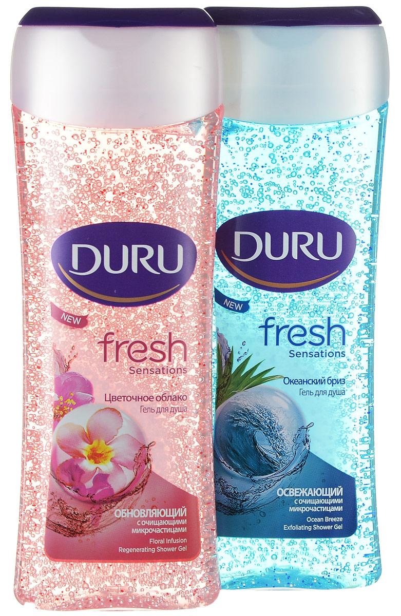 Duru Fresh Подарочный набор Гель для душа Океан 250мл + Гель для душа Цветочный 250мл