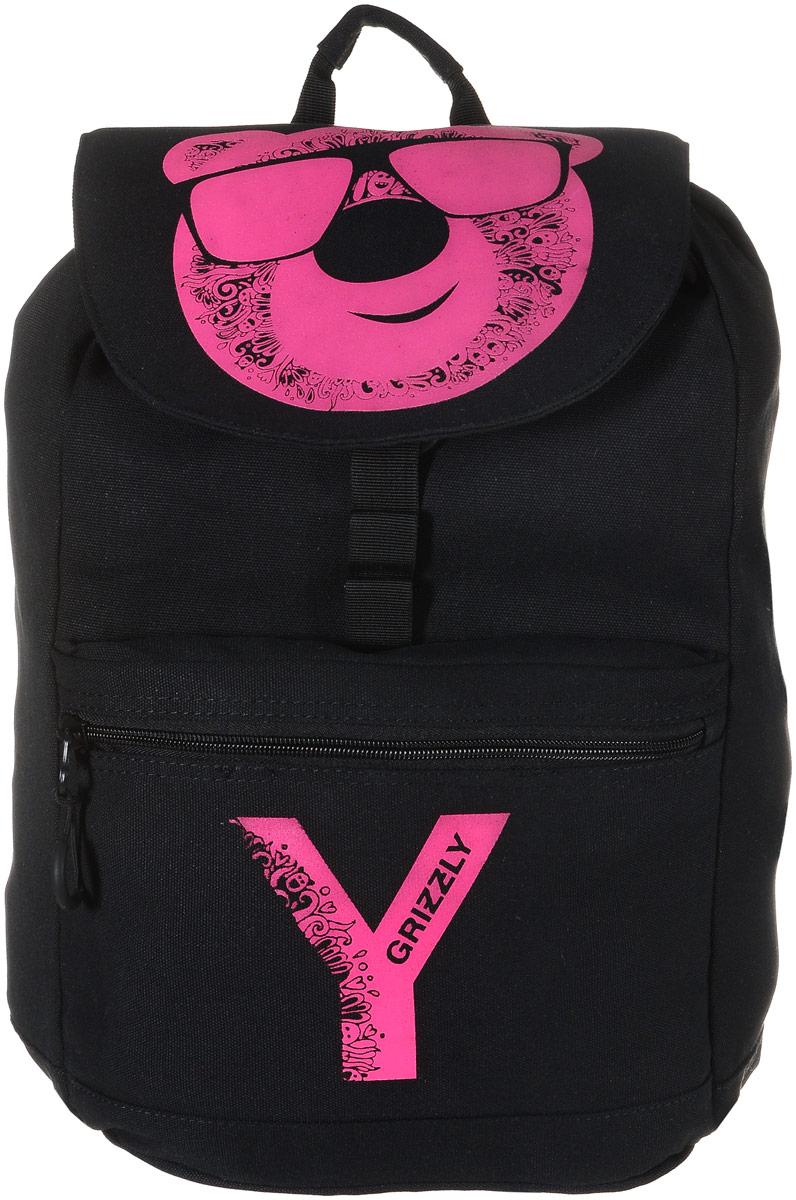 Grizzly Рюкзак цвет черный розовый RD-744-1/4