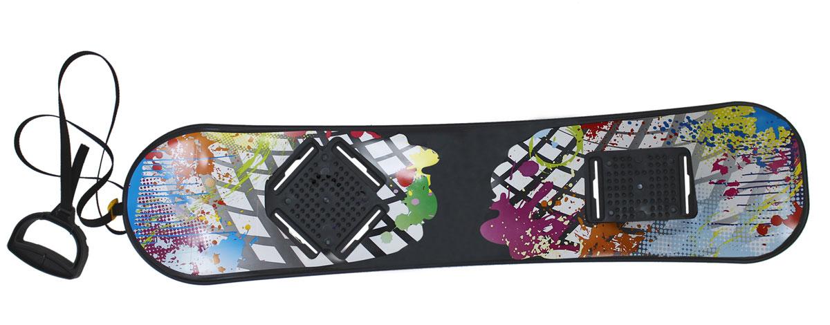 Сноускейт Цикл, 95х22,5 см21671Доска сноуборда без крепления с ручкой на тесьме. Размер доски: 950х225 мм. Нагрузка не более 70кг, Возраст: 10+