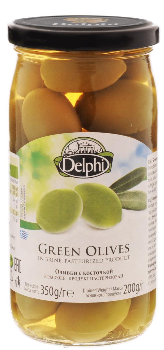 Delphi Оливки с косточкой в рассоле, 350 г