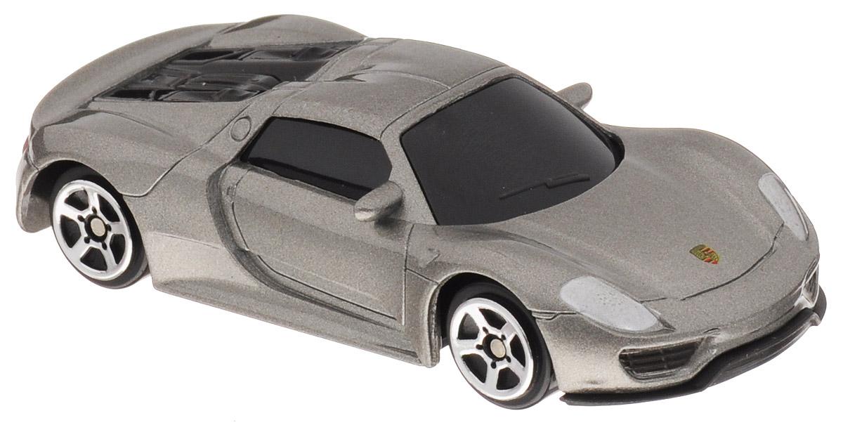 Uni-Fortune Toys Модель автомобиля Porsche 918 Spyder цвет серебристый344027SМодель автомобиля Uni-Fortune Toys Porsche 918 Spyder будет отличным подарком как ребенку, так и взрослому коллекционеру. Благодаря броской внешности и великолепной точности автомобиль станет подлинным украшением любой коллекции авто. Машина будет долго служить своему владельцу благодаря металлическому корпусу с элементами из пластика. Модель автомобиля обязательно понравится вашему ребенку и станет достойным экспонатом любой коллекции.