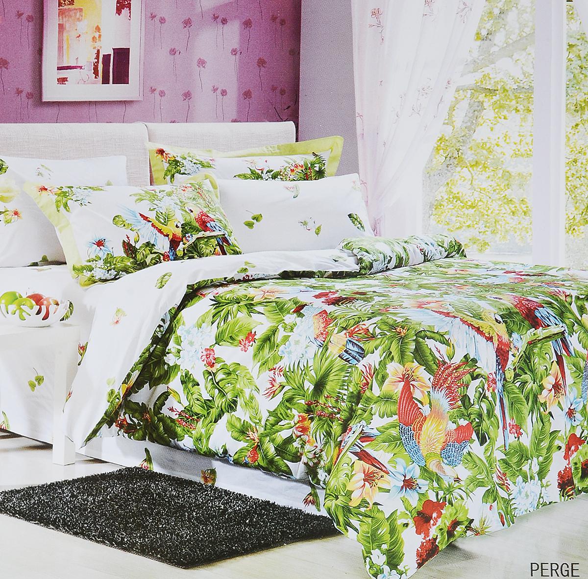 Комплект белья Le Vele Perge, 2-спальный, наволочки 50х70740/91Комплект постельного белья Le Vele Perge, выполненный из сатина (100% хлопка), создан для комфорта и роскоши. Комплект состоит из пододеяльника, простыни и 4 наволочек. Постельное белье оформлено оригинальным рисунком. Пододеяльник застегивается на кнопки, что позволяет одеялу не выпадать из него. Сатин - хлопчатобумажная ткань полотняного переплетения, одна из самых красивых, прочных и приятных телу тканей, изготовленных из натурального волокна. Благодаря своей шелковистости и блеску сатин называют хлопковым шелком. Приобретая комплект постельного белья Le Vele Perge, вы можете быть уверены в том, что покупка доставит вам и вашим близким удовольствие и подарит максимальный комфорт.