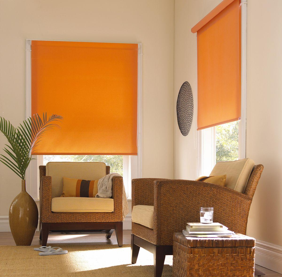 Штора рулонная Эскар Миниролло, цвет: апельсин, ширина 48 см, высота 170 см31203048170Рулонная штора Эскар Миниролло выполнена из высокопрочной ткани, которая сохраняет свой размер даже при намокании. Ткань не выцветает и обладает отличной цветоустойчивостью. Миниролло - это подвид рулонных штор, который закрывает не весь оконный проем, а непосредственно само стекло. Такие шторы крепятся на раму без сверления при помощи зажимов или клейкой двухсторонней ленты (в комплекте). Окно остается на гарантии, благодаря монтажу без сверления. Такая штора станет прекрасным элементом декора окна и гармонично впишется в интерьер любого помещения.