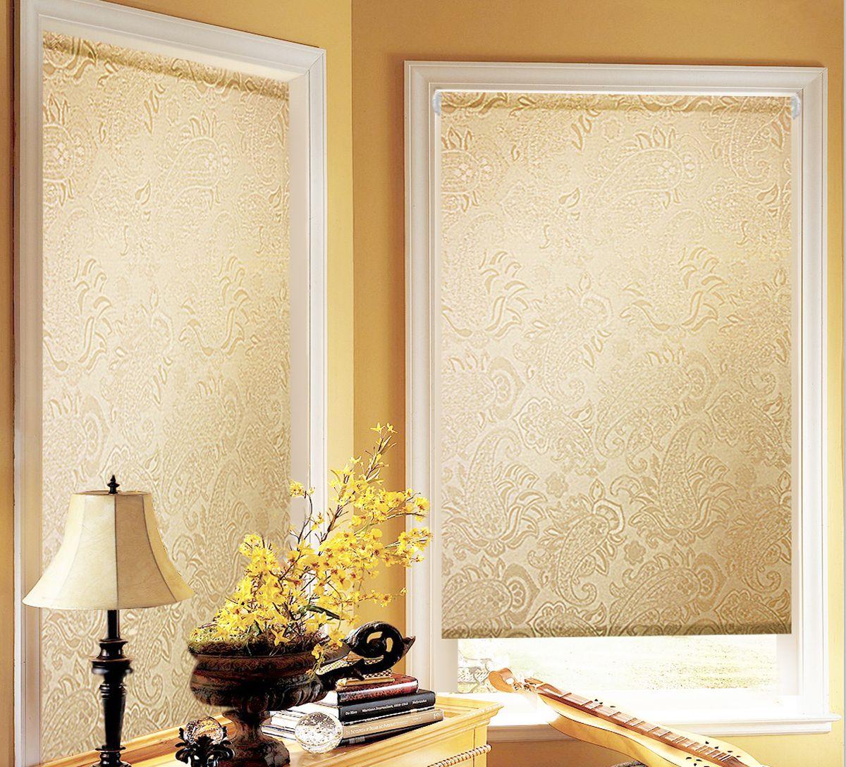 Штора рулонная для балконной двери Эскар Миниролло. Арабеска, фактурная, цвет: капучино, ширина 52 см, высота 215 см38930052215Рулонная штора Эскар Миниролло. Арабеска выполнена из высокопрочной ткани, которая сохраняет свой размер даже при намокании. Ткань не выцветает и обладает отличной цветоустойчивостью. Миниролло - это подвид рулонных штор, который закрывает не весь оконный проем, а непосредственно само стекло. Такие шторы крепятся на раму без сверления при помощи зажимов или клейкой двухсторонней ленты. Окно остается на гарантии, благодаря монтажу без сверления. Такая штора станет прекрасным элементом декора окна и гармонично впишется в интерьер любого помещения.