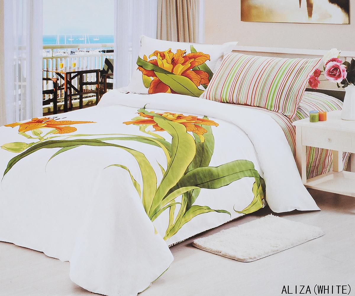Комплект белья Le Vele Aliza, 1,5-спальный, наволочки 50х70741/28Комплект постельного белья Le Vele Aliza, выполненный из сатина (100% хлопка), создан для комфорта и роскоши. Комплект состоит из пододеяльника, простыни и 2 наволочек. Постельное белье оформлено оригинальным рисунком. Пододеяльник застегивается на кнопки, что позволяет одеялу не выпадать из него. Сатин - хлопчатобумажная ткань полотняного переплетения, одна из самых красивых, прочных и приятных телу тканей, изготовленных из натурального волокна. Благодаря своей шелковистости и блеску сатин называют хлопковым шелком. Приобретая комплект постельного белья Le Vele Aliza, вы можете быть уверены в том, что покупка доставит вам и вашим близким удовольствие и подарит максимальный комфорт.