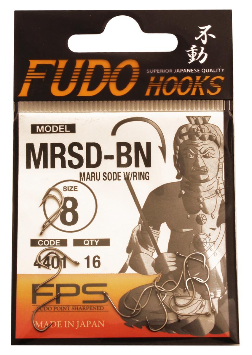 "Крючок Fudo ""Maru Sode W/Ring"", №8 BN (4401), 16 шт 13779"