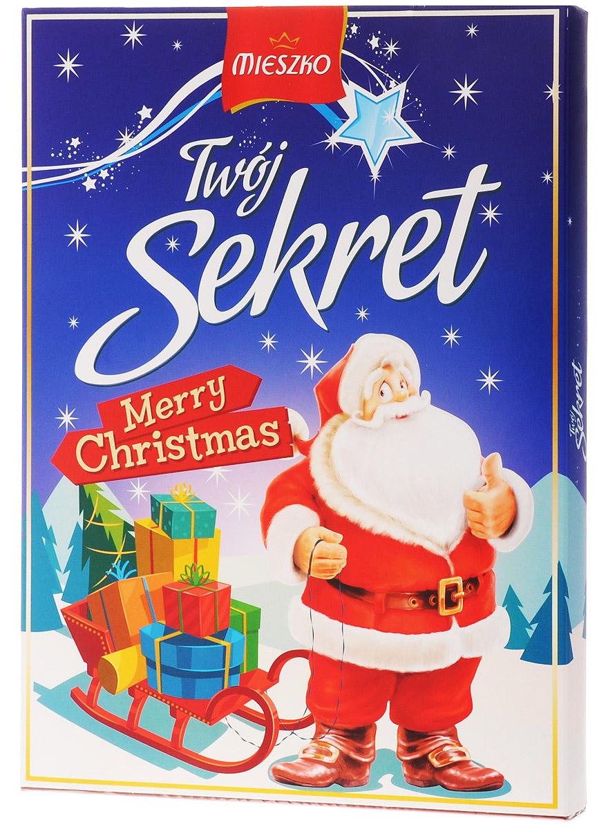 Mieszko Твой Секрет набор шоколадных конфет, 324 г9283Шоколадные конфеты с начинкой Mieszko Твой Секрет - ассорти в десертном и молочном шоколаде, которое состоит из 6 вкусов и займет достойное место как на праздничном столе, так и как повседневное лакомство к чаю.