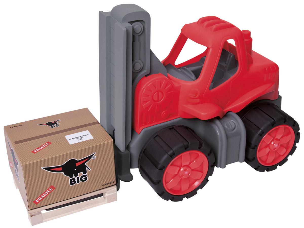 Big Погрузчик Big Power Worker56829Погрузчик Big Power Worker станет отличным подарком для вашего малыша. Яркая и красочная машина умеет поднимать и опускать паллету с грузом совсем как настоящий погрузчик. Игрушка изготовлена из качественного прочного пластика, широкие колеса прорезинены, что придает игрушке большую устойчивость. Эта машина надолго заинтересует вашего малыша и обязательно поднимет ему настроение.