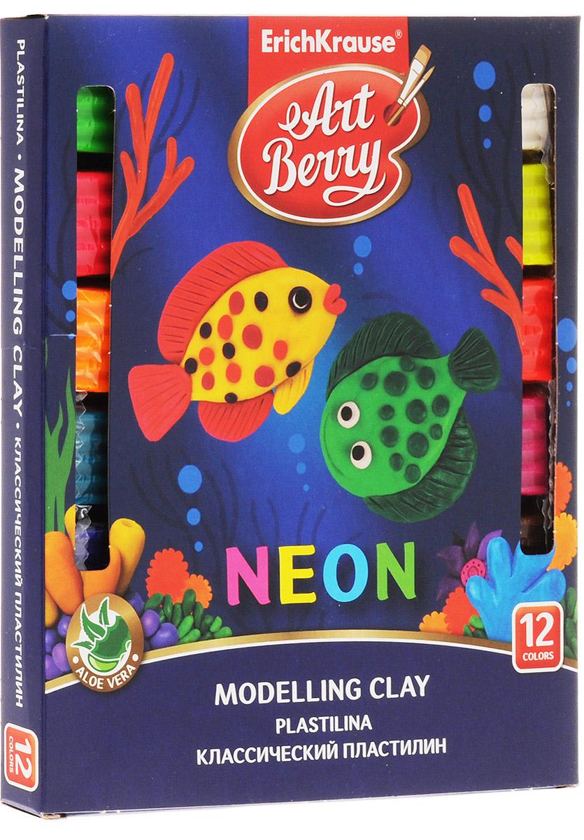 Erich Krause Пластилин ArtBerry Неон 12 цветов
