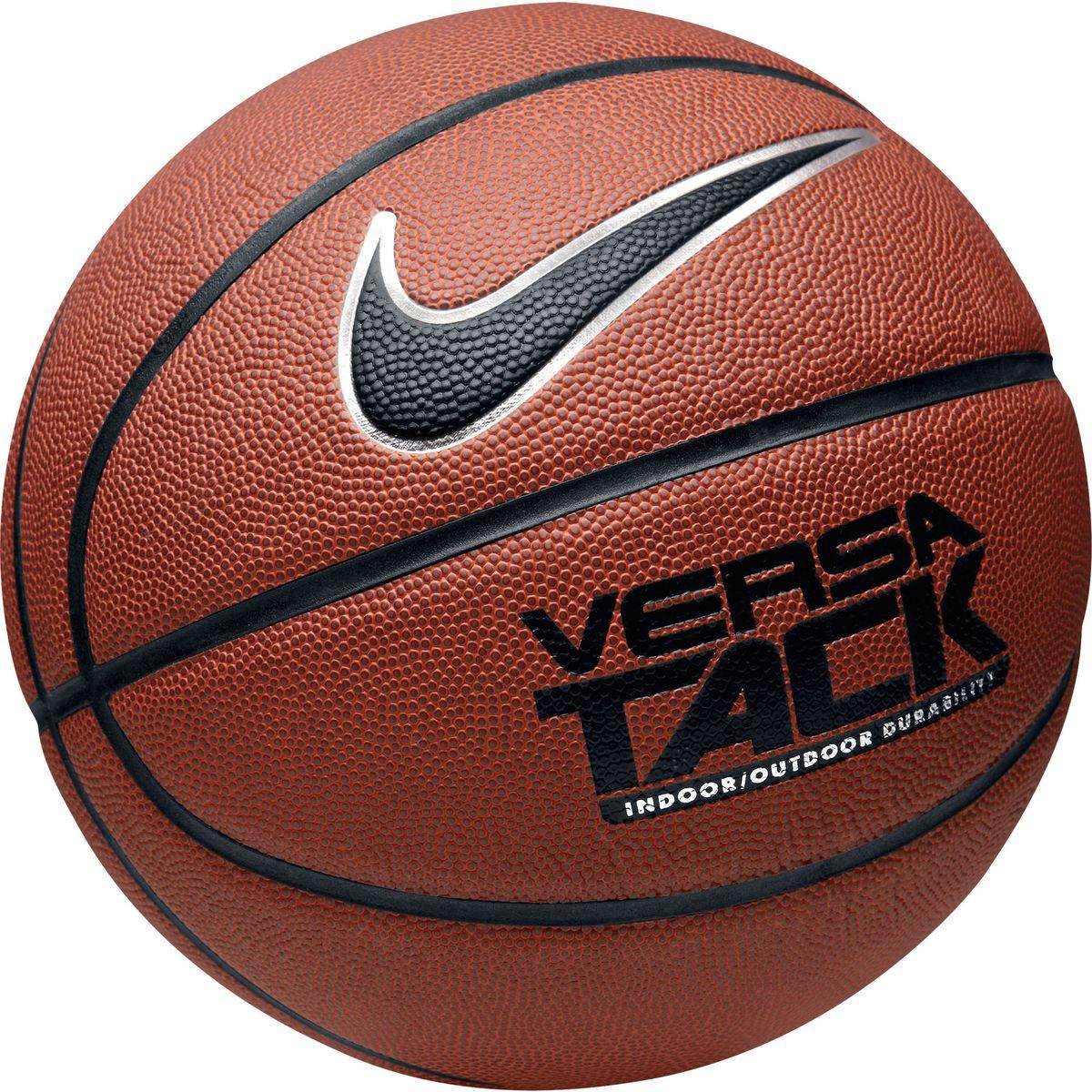 Мяч баскетбольный Nike Versa Tack, цвет: оранжевый. Размер 7BB0434-801Мяч баскетбольный Nike Versa Tack подходит для игр в зале и на свежем воздухе. Модель выполнена из плотного резинового покрытия с мягкой текстурированной поверхностью и дополнена широкими канавками для удобного захвата. Высококачественная камера для сохранения формы.