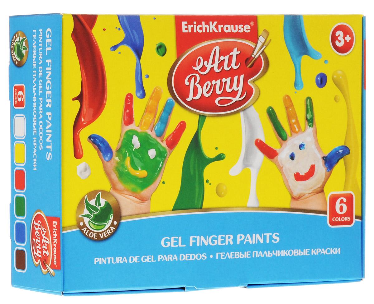 Erich Krause Краска пальчиковая ArtBerry 6 цветов
