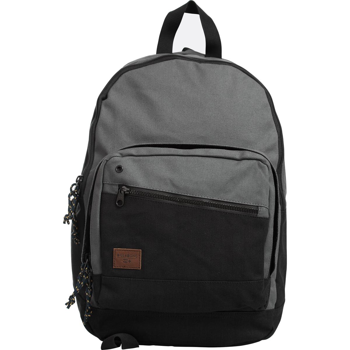 Рюкзак городской Billabong Laneway Canvas, цвет: черный, 23 л. Z5BP08Z5BP08Вместительный и практичный рюкзак из 100% хлопка. Два внеших внеших кармана для мелочей, в онсновном отделение кармана для ноутбука.