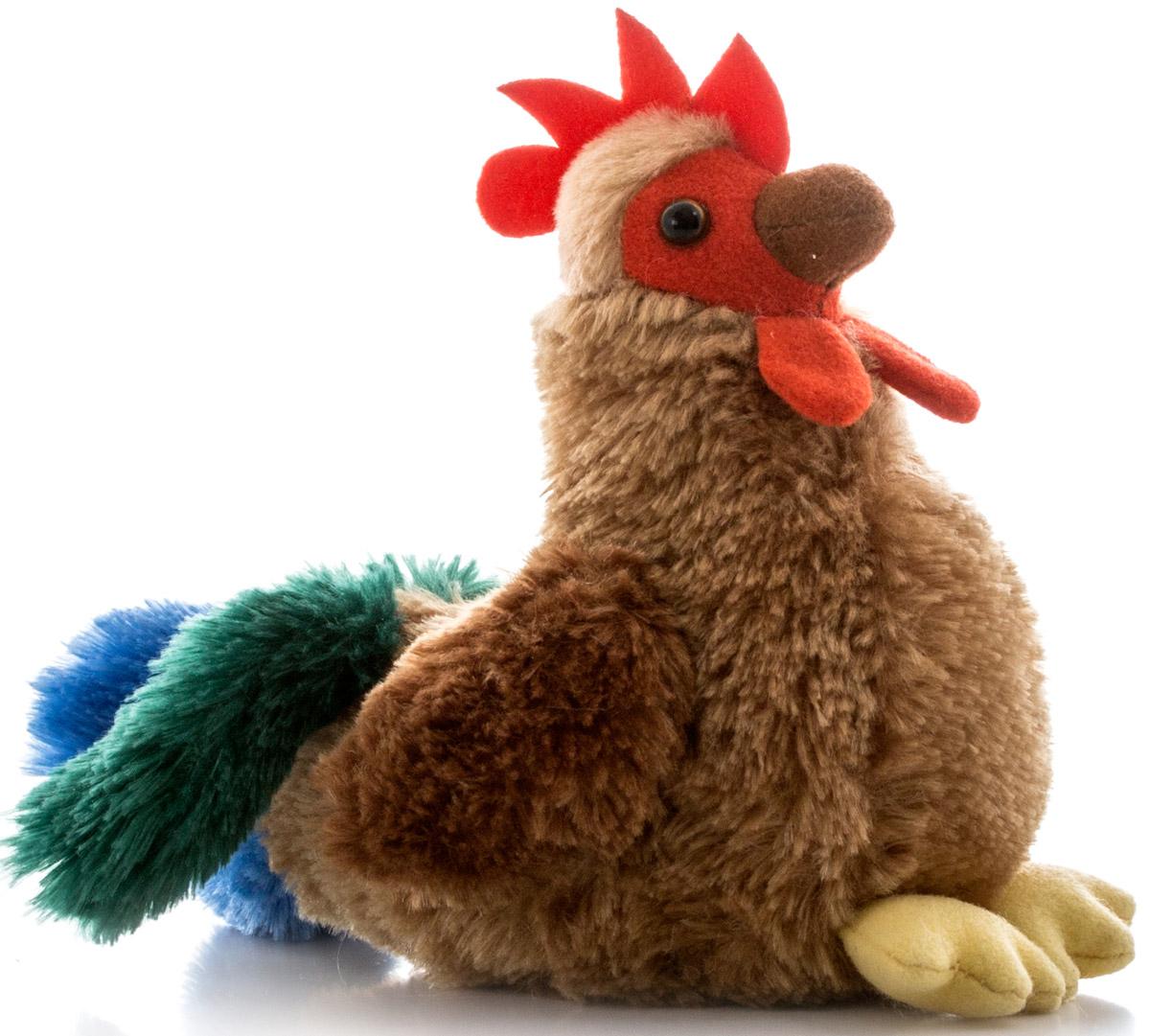 Aurora Мягкая игрушка Петушок цвет коричневый 15 см