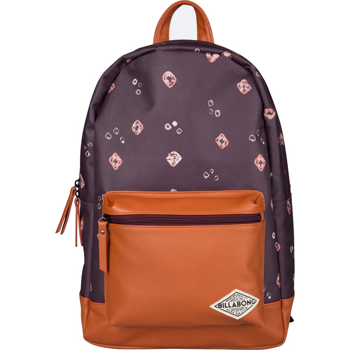 Рюкзак городской женский Billabong Personal, цвет: бордовый, 20 л. Z9BP03Z9BP03Практичный и вместительный женский рюкзак , готовый вписаться в Ваш стиль и вместить все Ваши вещи, необходимые для учебы, работы или просто прогулок по городу.