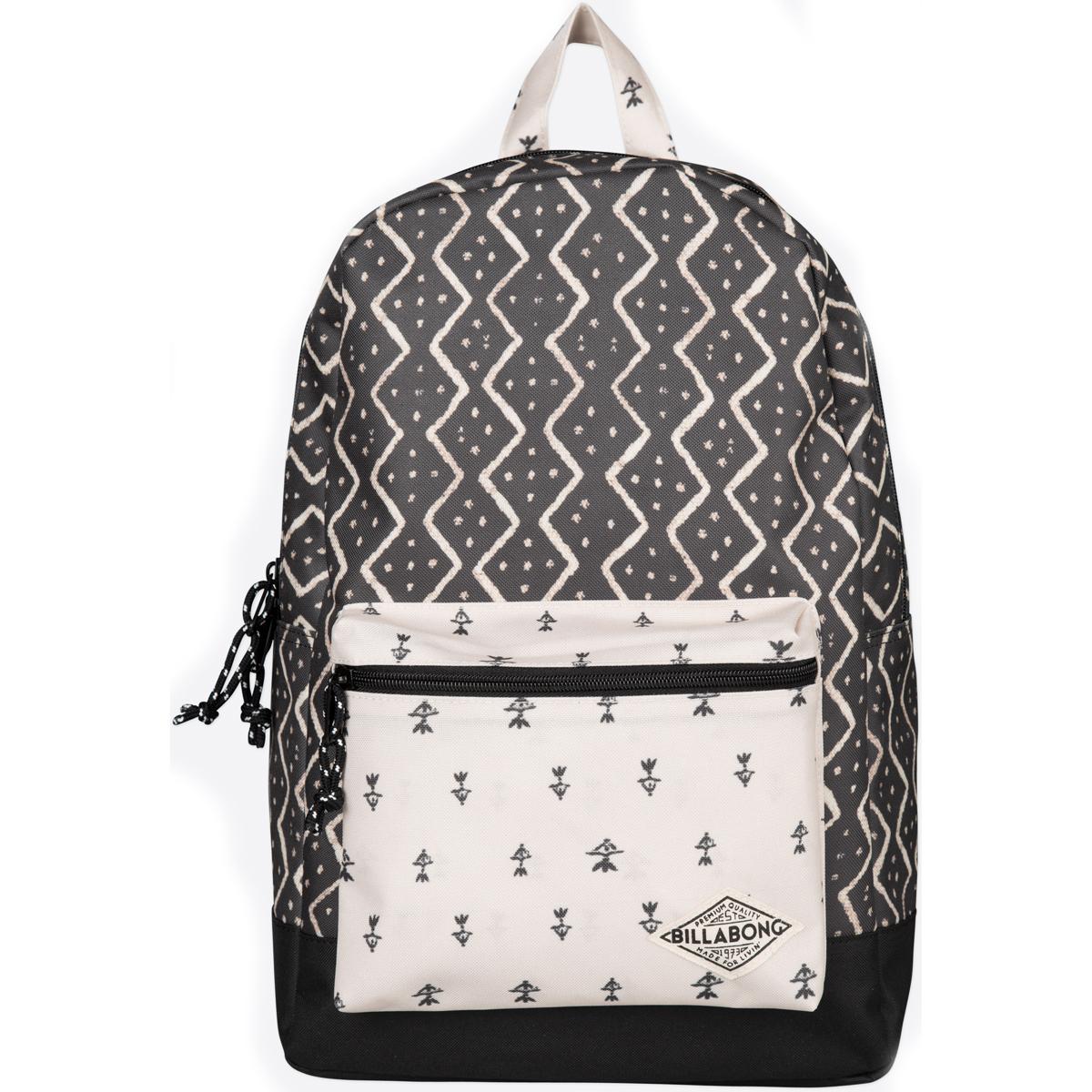 Рюкзак городской женский Billabong Study, цвет: черный, 20 л. Z9BP04Z9BP04Стильный женский рюказк с необычными цветовыми решениями. Есть все самое необхадимое, отсек для ноутбука и для мелких канцелярских принадлежностей.