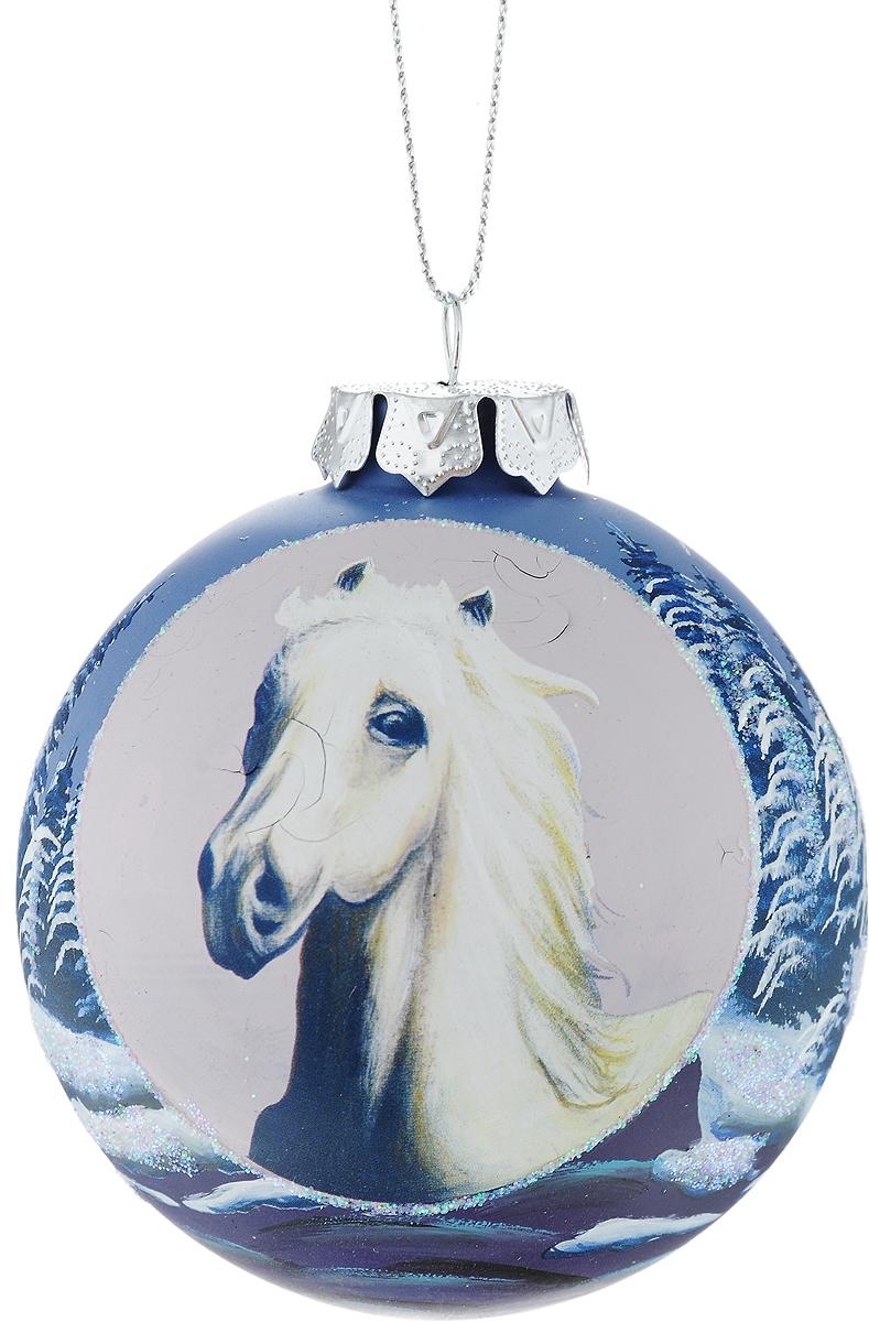 Украшение новогоднее подвесное Winter Wings Лошадь, диаметр 8 см. N079070N079070Новогоднее подвесное украшение Winter Wings Лошадь выполнено из стекла в виде шара с изображением лошади. С помощью специальной петельки украшение можно повесить в любом понравившемся вам месте. Но, конечно, удачнее всего оно будет смотреться на праздничной елке. Елочная игрушка - символ Нового года. Она несет в себе волшебство и красоту праздника. Создайте в своем доме атмосферу веселья и радости, украшая новогоднюю елку нарядными игрушками, которые будут из года в год накапливать теплоту воспоминаний.
