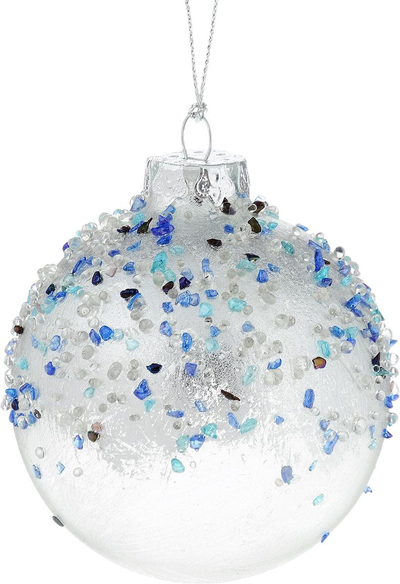 Украшение новогоднее подвесное Winter Wings Шар, диаметр 8 см. N079105N079105Новогоднее подвесное украшение Winter Wings Шар выполнено из стекла в виде шара. С помощью специальной петельки украшение можно повесить в любом понравившемся вам месте. Но, конечно, удачнее всего оно будет смотреться на праздничной елке. Елочная игрушка - символ Нового года. Она несет в себе волшебство и красоту праздника. Создайте в своем доме атмосферу веселья и радости, украшая новогоднюю елку нарядными игрушками, которые будут из года в год накапливать теплоту воспоминаний.